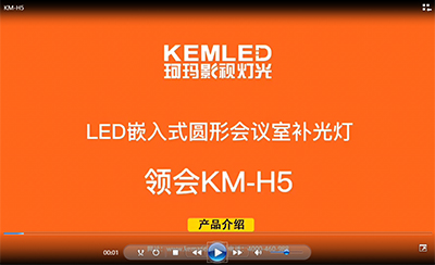 KM-H5 LED嵌入式圆形会议室补光灯