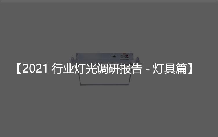 2021行业灯光调研报告-灯具篇