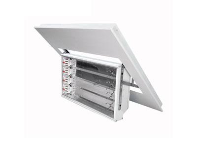 DSR-4x36W/4x55W 内嵌式半边轴翻转0-90°可调角度会议室三基色灯