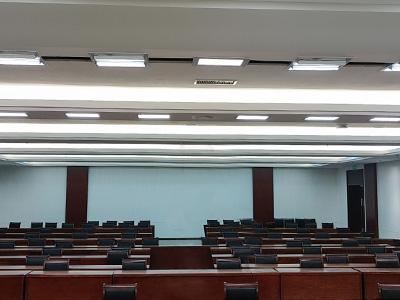"""珂玛又一大型会议室灯光项目""""荆门大剧院""""345㎡视频会议灯光"""