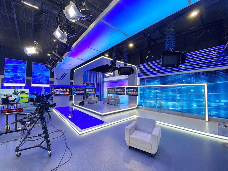营口电视台融媒体演播室灯光案例