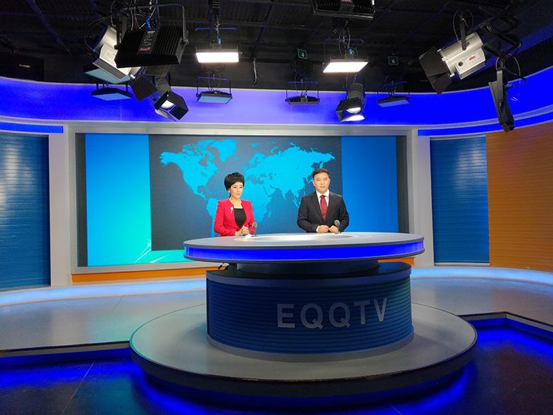 内蒙古鄂托克前旗广播电视台新闻演播厅